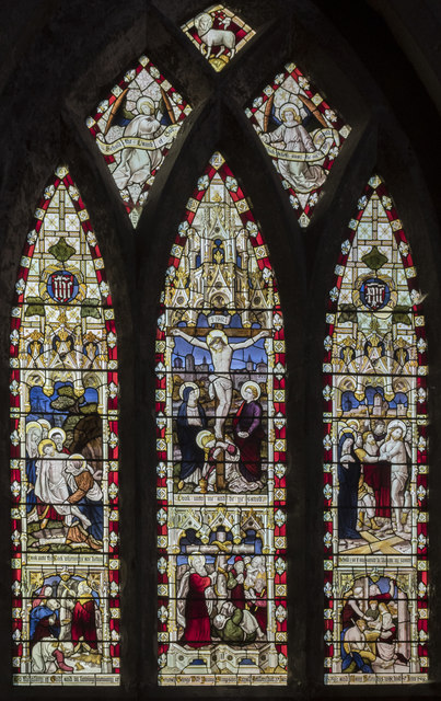Stained glass window, St Mary & Martin's church, Blyth