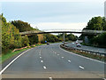 NS3241 : Footbridge over the A78 at Castlepark by David Dixon