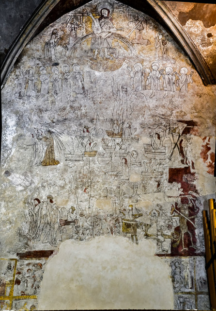Doom painting, Ss Mary & Martin's church, Blyth