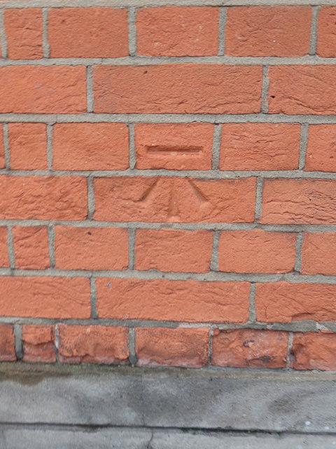 Bench mark on Carnegie Library, Teddington