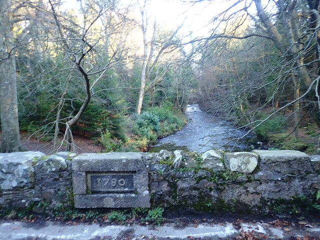 Date stone on the Ivy Bridge over the Shimna