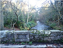 J3532 : Date stone on the Ivy Bridge over the Shimna by Eric Jones