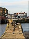 NZ8911 : Whitby old pier by Gordon Hatton