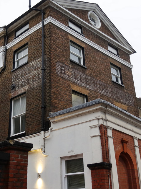 'Belle Vue House Hotel' ghost signs