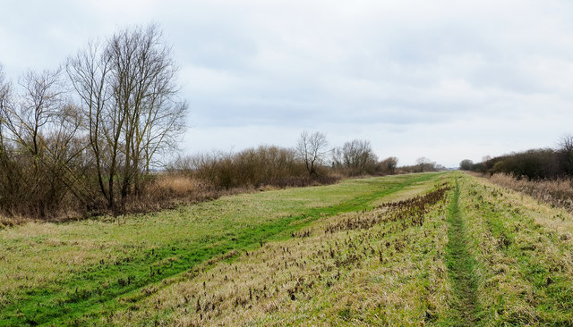 Embankment between Dutch River and the Aire and Calder Navigation