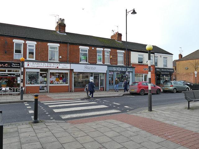 Shops on Newland Avenue, Hull