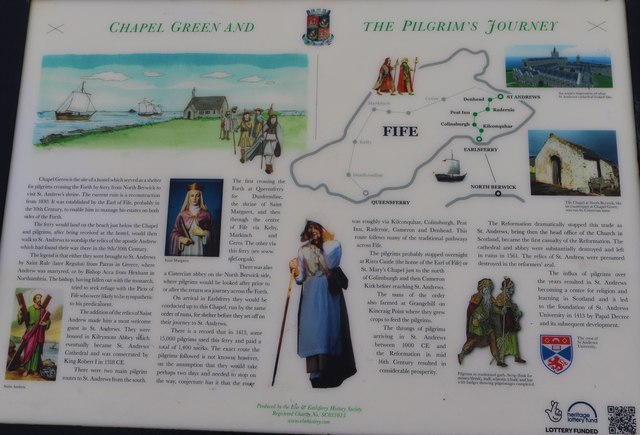 Information Board at Chapel Green, Earlsferry