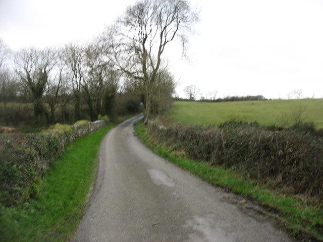 Minor road heading for Dwyran