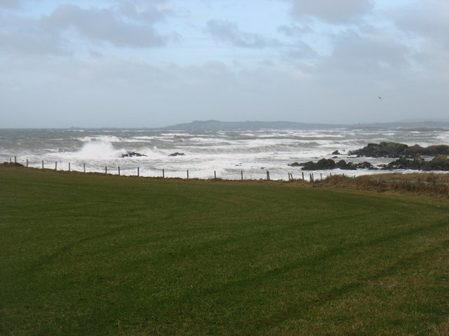 Rough seas in Porth Nobla