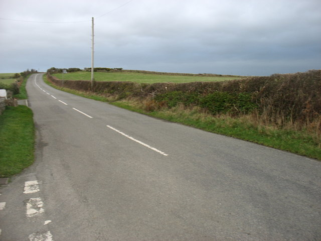 Minor road heading for Bryngwran