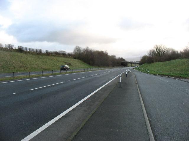 The A55 looking towards Bangor