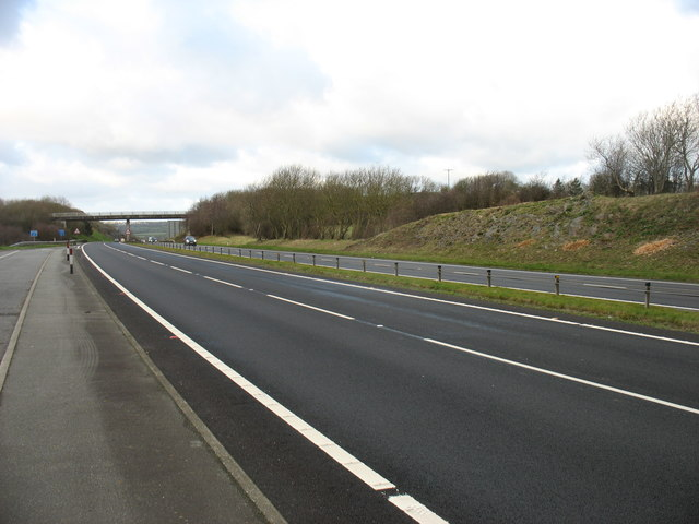 The A55 heading for Holyhead