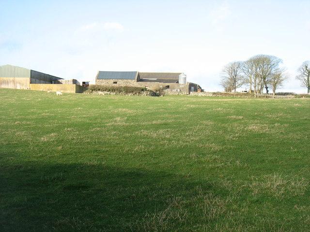Farm buildings at Treban