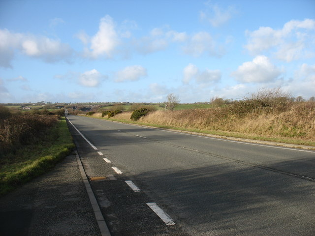 The A5 south of Llangefni, heading for Holyhead