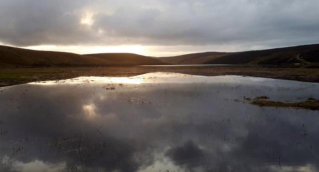 Floods on the Burrafirth links