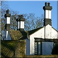 SE5128 : Chimneys at Hillam Hall by Alan Murray-Rust