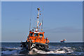NU0152 : The pilot boat St Boisil returning to Berwick-upon-Tweed Harbour by Walter Baxter