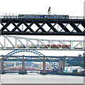 NZ2463 : Tyne bridges from the west by Andrew Curtis