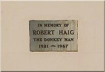 NO4800 : Memorial plaque, Elie by Bill Kasman