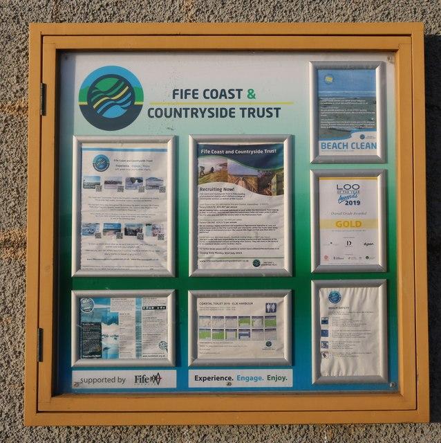 Notice Board at Elie Harbour
