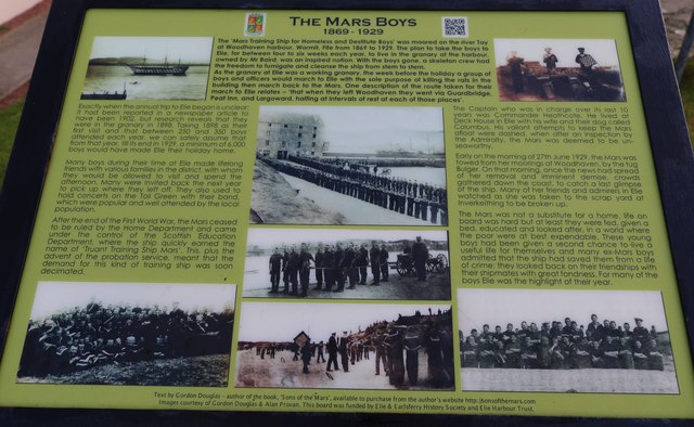 Information Board at Elie Harbour