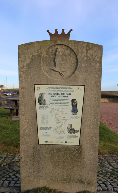 Cycle Way route indicator, Elie Harbour