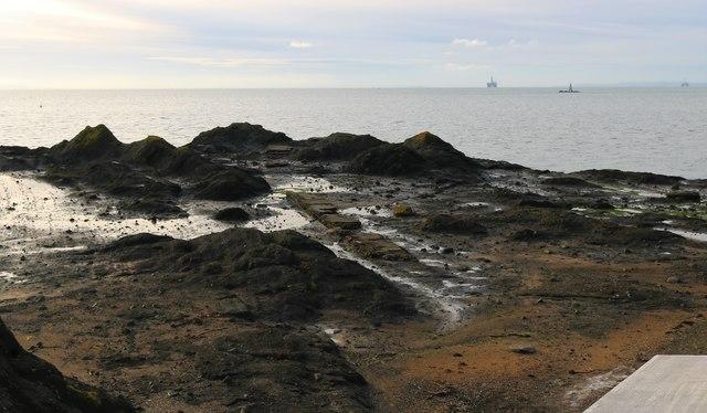 Remains of Apple Rock Pier, Elie