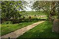 ST3928 : St Andrew's churchyard, Aller by Derek Harper