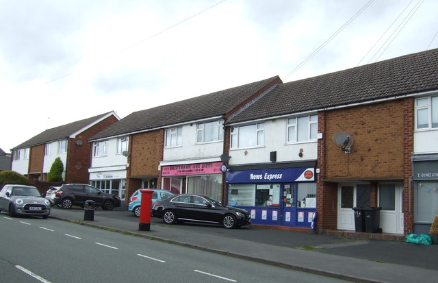 Post Office and shops on The Straits, Dudley