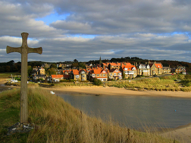 Alnmouth from Church Hill