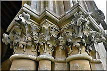 TQ1450 : Ranmore Common, St. Barnabas Church: South porch right capital 1 by Michael Garlick
