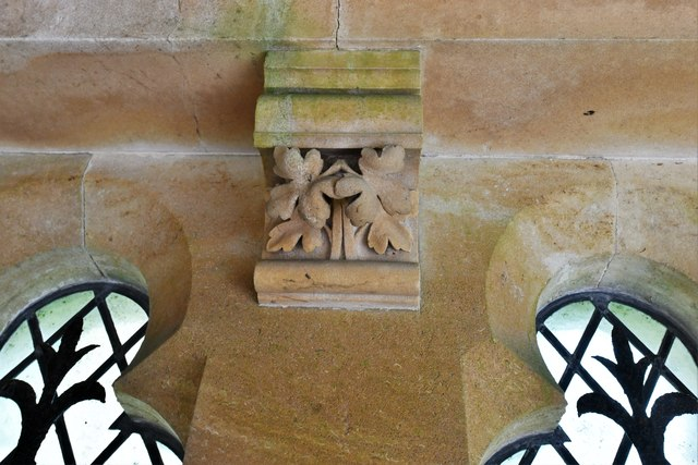 Ranmore Common, St. Barnabas Church: South porch roof corbel 2
