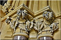 TQ1450 : Ranmore Common, St. Barnabas Church: South door left capital by Michael Garlick