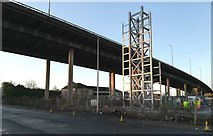 NS4865 : Construction of the M8 Tower near Glasgow Airport by Thomas Nugent