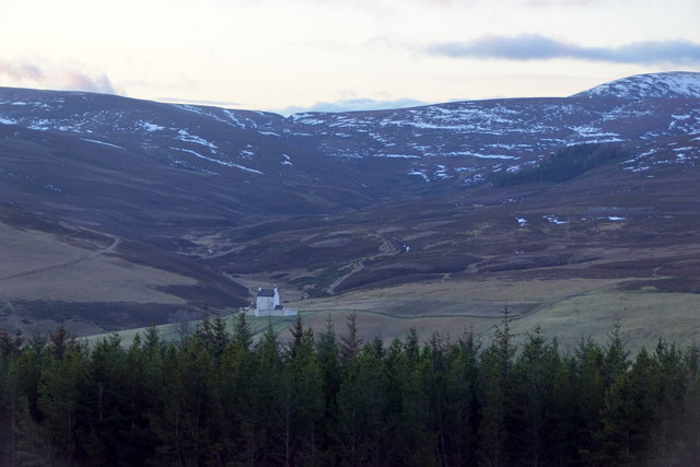 Corgarff Castle from the road to the Lecht