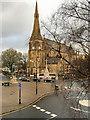 SD8010 : Bury Market Place and St Mary's Parish Church by David Dixon