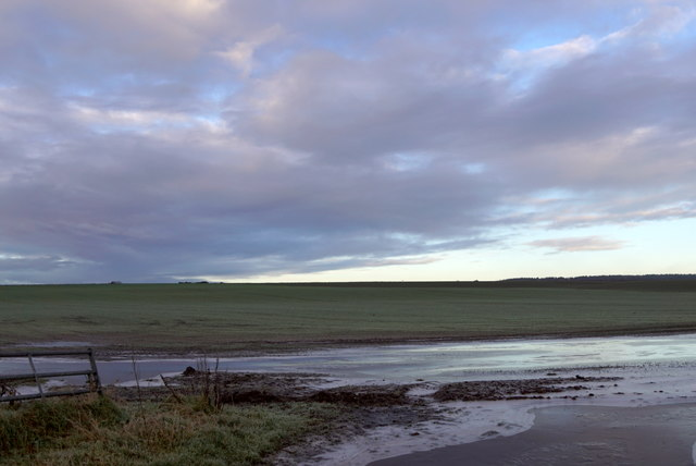 Flooded field near Wester Dalziel