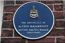 SD6927 : Blue Plaque for A. Wainwright by Chris Heaton