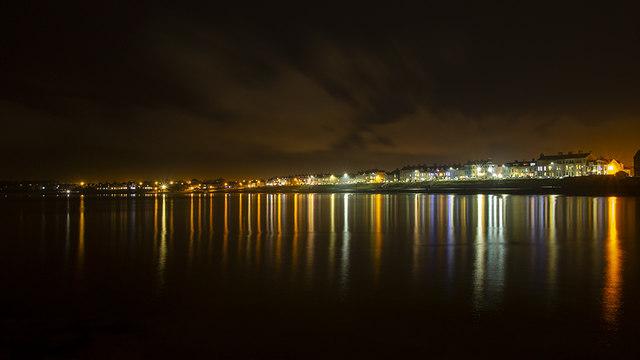 Ballyholme Bay at night