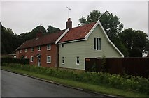 TM3067 : Cottages on the A1120, Badingham by David Howard