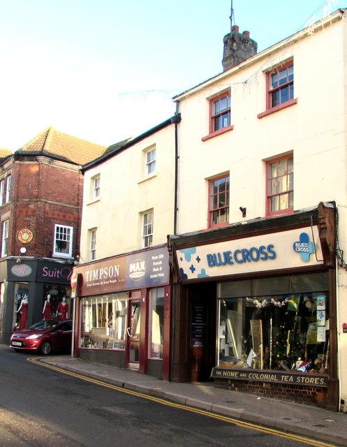 Blue Cross charity shop, Monnow Street, Monmouth