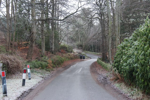 Road to Tilquhillie Castle from Banchory