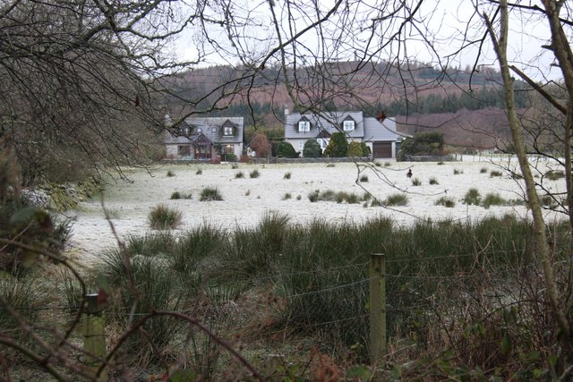 Detached houses at Auchattie