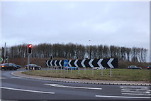 SP6848 : The Abthorpe Roundabout, Towcester by David Howard