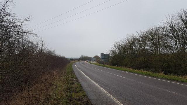 The A6 leaving Langton