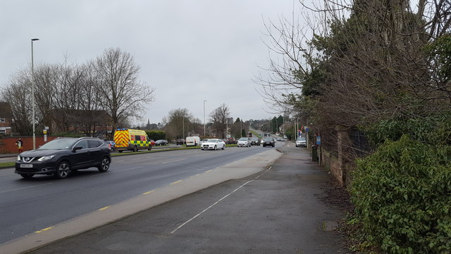The A6 at Oadby