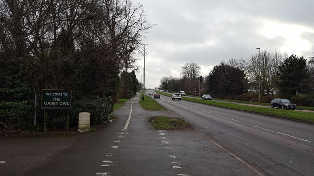 Cycle path alongside the A6