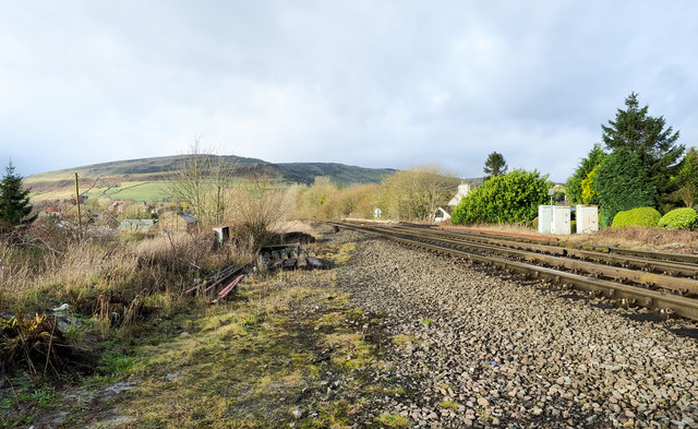 Railway route heading north-west