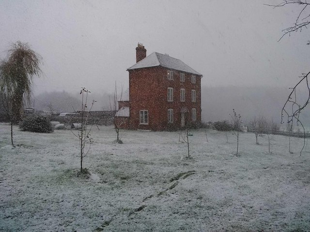 New Inn Farm in the snow 2016