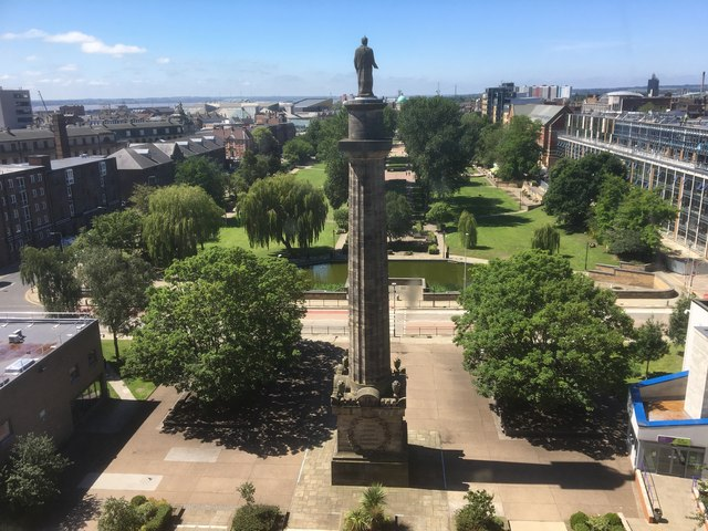 The view from floor seven of Hull College